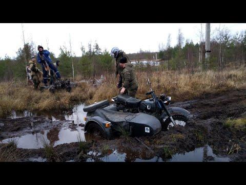 Мотоциклы  Урал по бездорожью, купили новый Днепр МТ-16 . - Видео онлайн