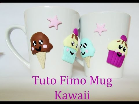 Kawaii Fimo Mug Ice Cream I Polymer Clay Tutorial Youtube
