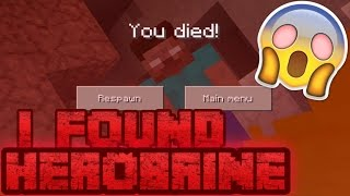 [REAL] I FOUND HEROBRINE IN MINECRAFT PE 0.17.0! HEROBRINE KILLED ME in MCPE!!! HEROBRINE IS REAL!!!