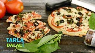 Tomato Cheese Pizza By Tarla Dalal