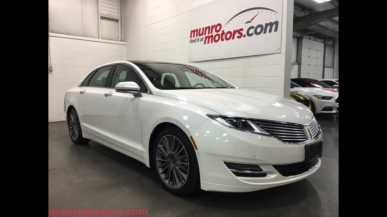 Lincoln Mkz Awd Sold Panoramic Blis Platinum White