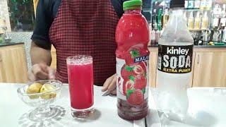 Strawberry soda mocktail  How to make