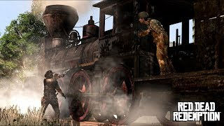 RED DEAD REDEMPTION 2 - TRAIN HEIST (ROBBERY) HD PS4