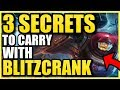 THE 3 BLITZCRANK SECRETS NOBODY ELSE WILL TEACH YOU! | The Best Blitzcrank Guide Season 9