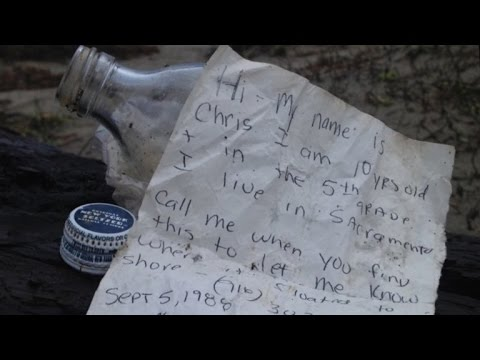 5-Year-Old Boy Discovers Message in a Bottle from 27 Years Ago