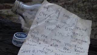 5-Year-Old Boy Discovers Message in a Bottle from 27 Years Ago thumbnail