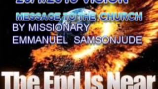 20/1/2015 VISION AND WARNING TO THE CHURCH