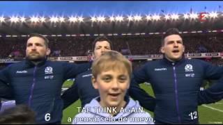Flor de Escocia subtitulado Scotland vs England 6 Nations at Murrayfield 06 02 2016
