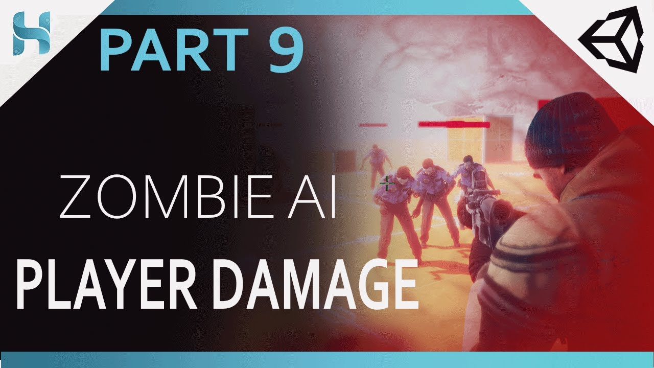 How to make Zombie AI_chasing and Attack _ Player damage and Damage Indicator_WWZ_Part_9