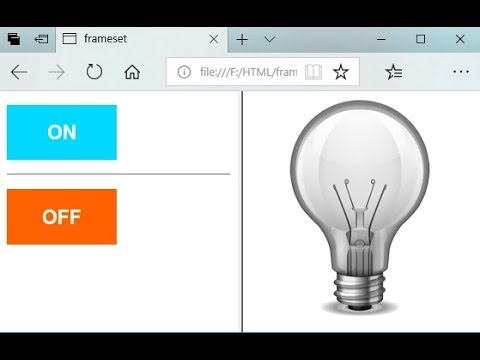 HTML, CSS (programming Tutorial): Turn ON & OFF Light Bulb Project