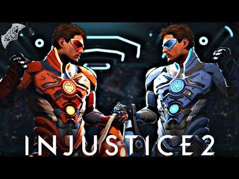 Injustice 2 Online - EPIC ORANGE AND BLUE LANTERN GEAR!