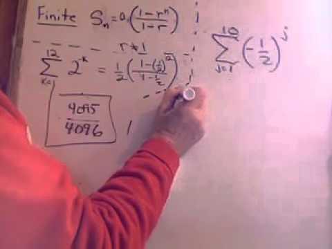 Geometric Series Finite Sum.