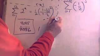 Geometric Series Finite Sum.