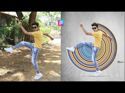 PicsArt 3D Circle Stretch Photo Editing Tutorial Step By Step In Hindi In Picsart 2019
