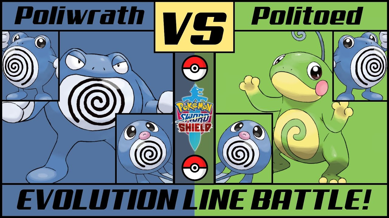POLIWRATH vs POLITOED - Evolution Line Battle
