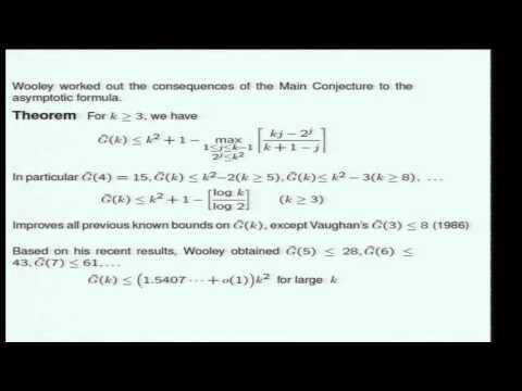 Decoupling in harmonic analysis and the Vinogradov mean value theorem - Bourgain