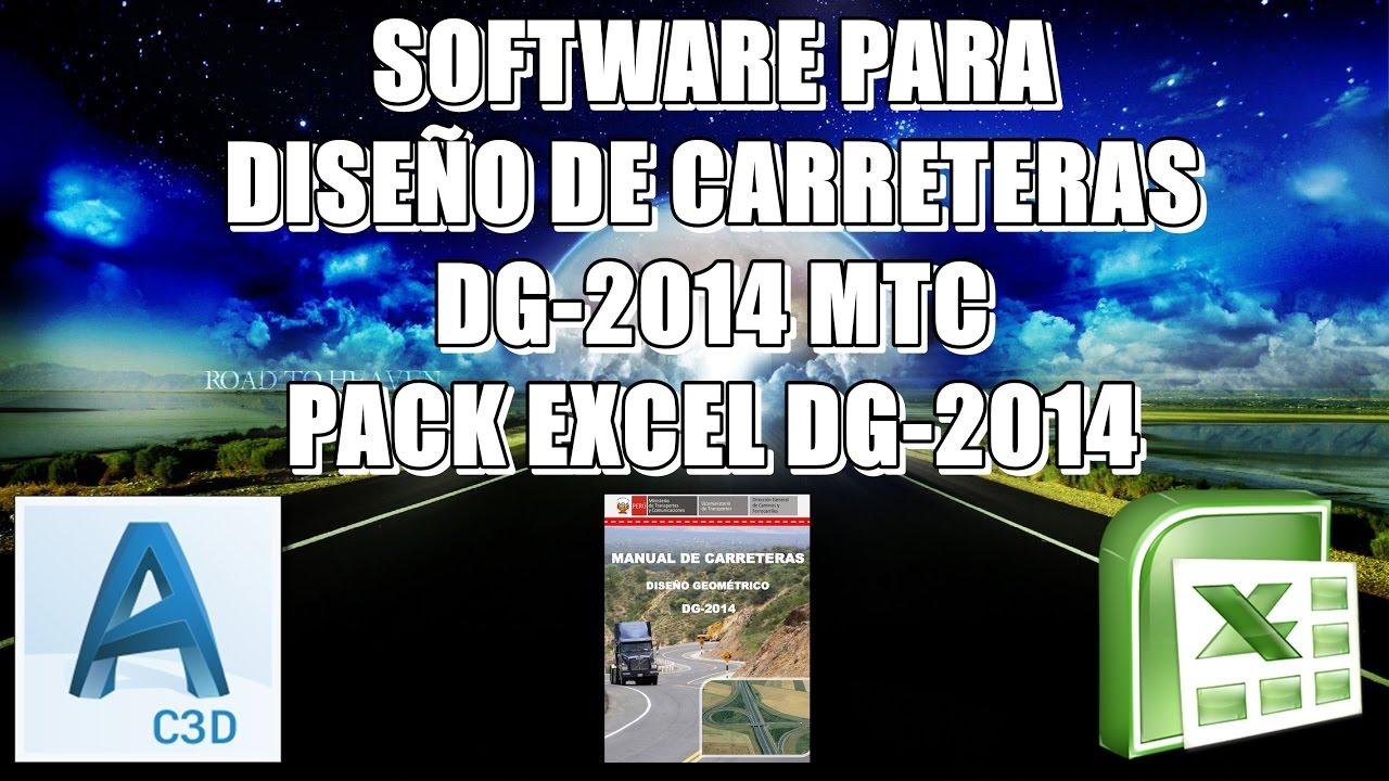 Software para dise o geom trico de carreteras dg 2014 mtc for Programas para diseno 3d