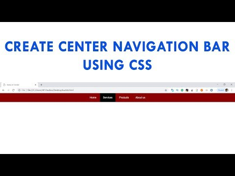 Create Center Navigation Bar Menu Using CSS Easy Tutorial