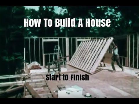 How to Build a Wood Frame House - Construction Steps and Procedures ...