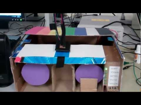 Color sensor music/speech player