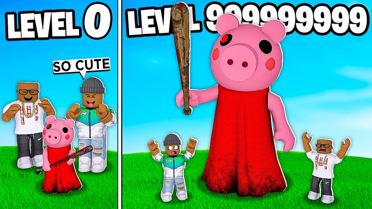 Piggy Roblox Characters Cute We Built A Level 999 999 999 Roblox 2 Player Piggy Tycoon Youtube