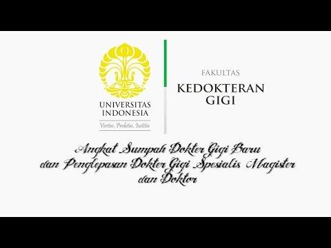 Angkat Sumpah Dokter Gigi Baru FKG Universitas Indonesia Desember 2015