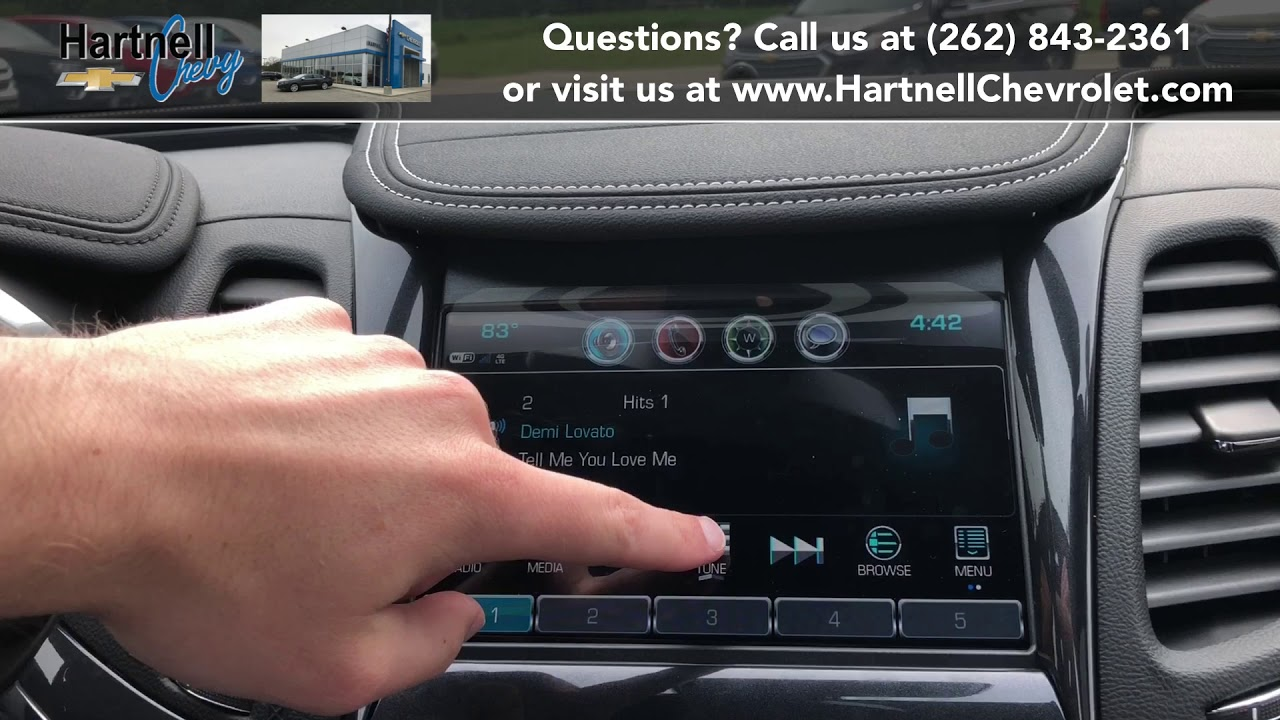 How To Save And Delete Radio Presets On Chevy Mylink Youtube