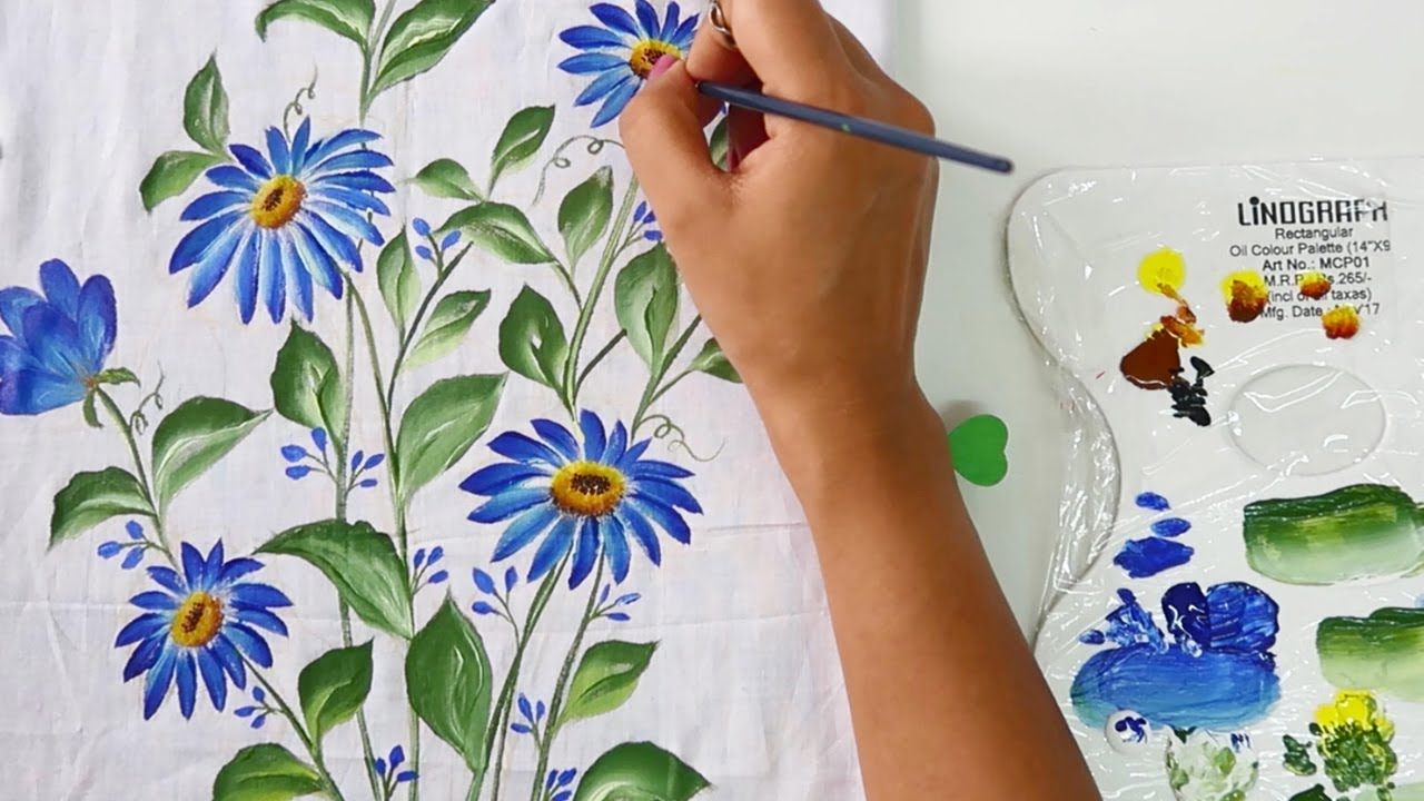 Easy & Quick Cushion Cover Painting Design