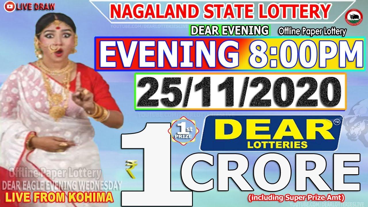 LOTTERY SAMBAD NAGALAND EVENING 8:00PM 25.11.2020 NAGALAND LOTTERY LIVE RESULT TODAY LIVE DRAW