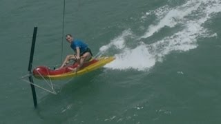 Kite Scooter - a small & fast kite sailing boat