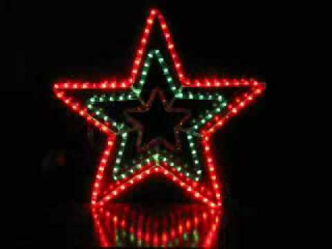 christmas lights animated star