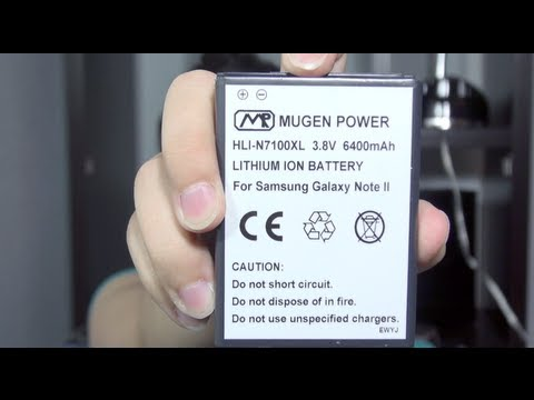 Galaxy Note II *6400mAh Mugen Power Battery Review*