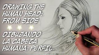 COMO DIBUJAR LA CABEZA HUMANA- PERFIL  por Sonia Mª Corral - HOW TO DRAW HUMAN HEAD FROM SIDE