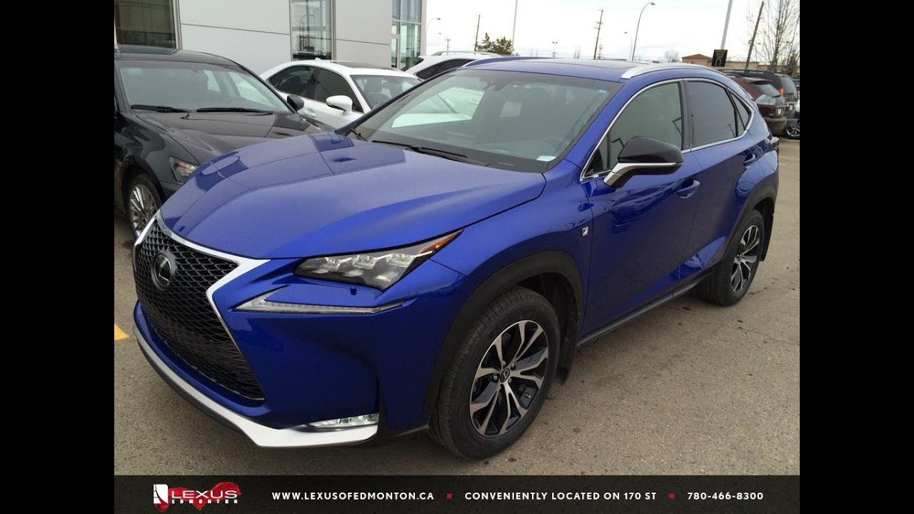 ultrasonic blue executive demo 2015 lexus nx 200t awd f sport series 2 review st albert. Black Bedroom Furniture Sets. Home Design Ideas