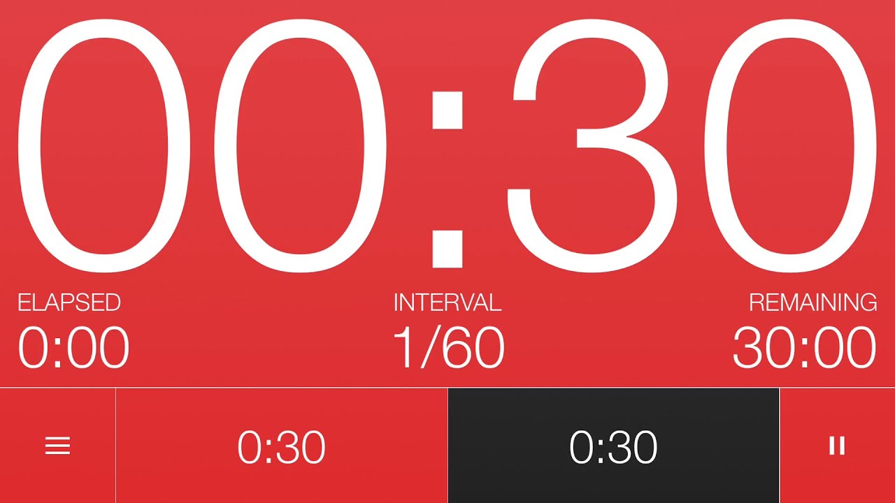 30 Second Interval Timer - YouTube