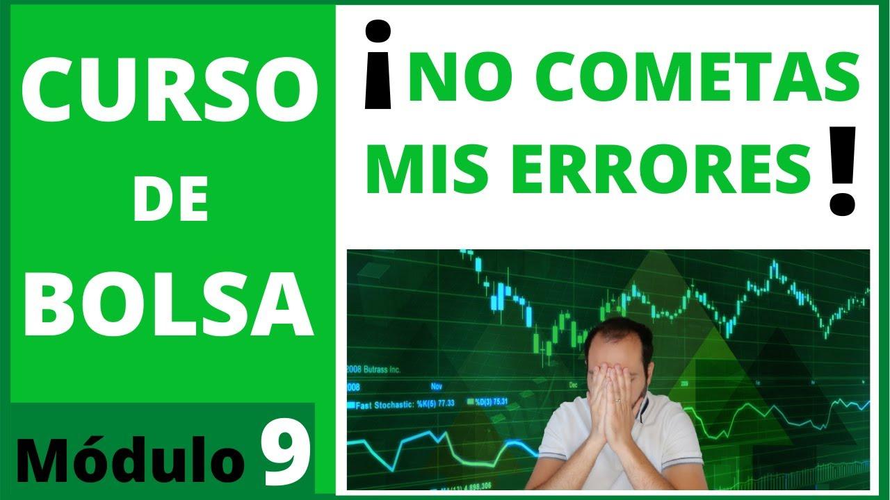 9️⃣ 5 ERRORES que no debes cometer al INVERTIR en BOLSA 🟢 Curso de bolsa #9