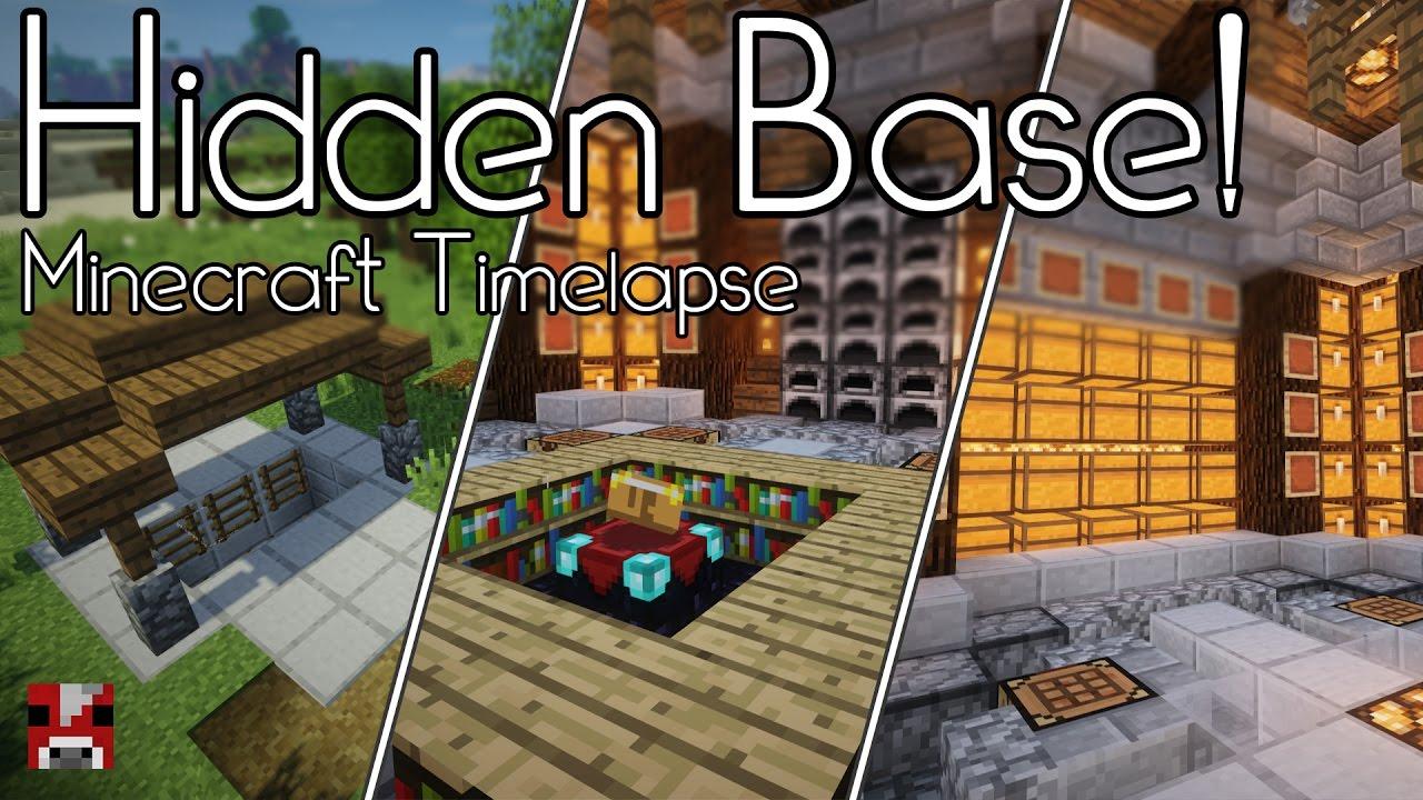 Minecraft Timelapse Hidden Underground Base World Download Youtube