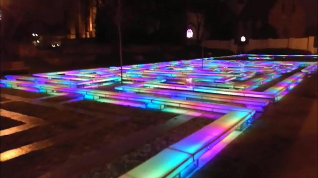 Oświetlenie Cyfrowe Led ławki W Parku Ws2811