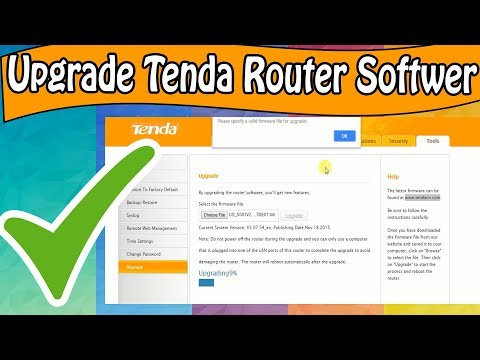 Tenda Router Firmware Upgrade /Update Your Router Softwer 2018