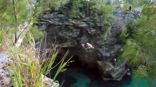 Plongeons sur les falaises des bermudes