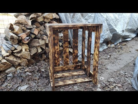 DIY indoor wood storage. Very easy build!