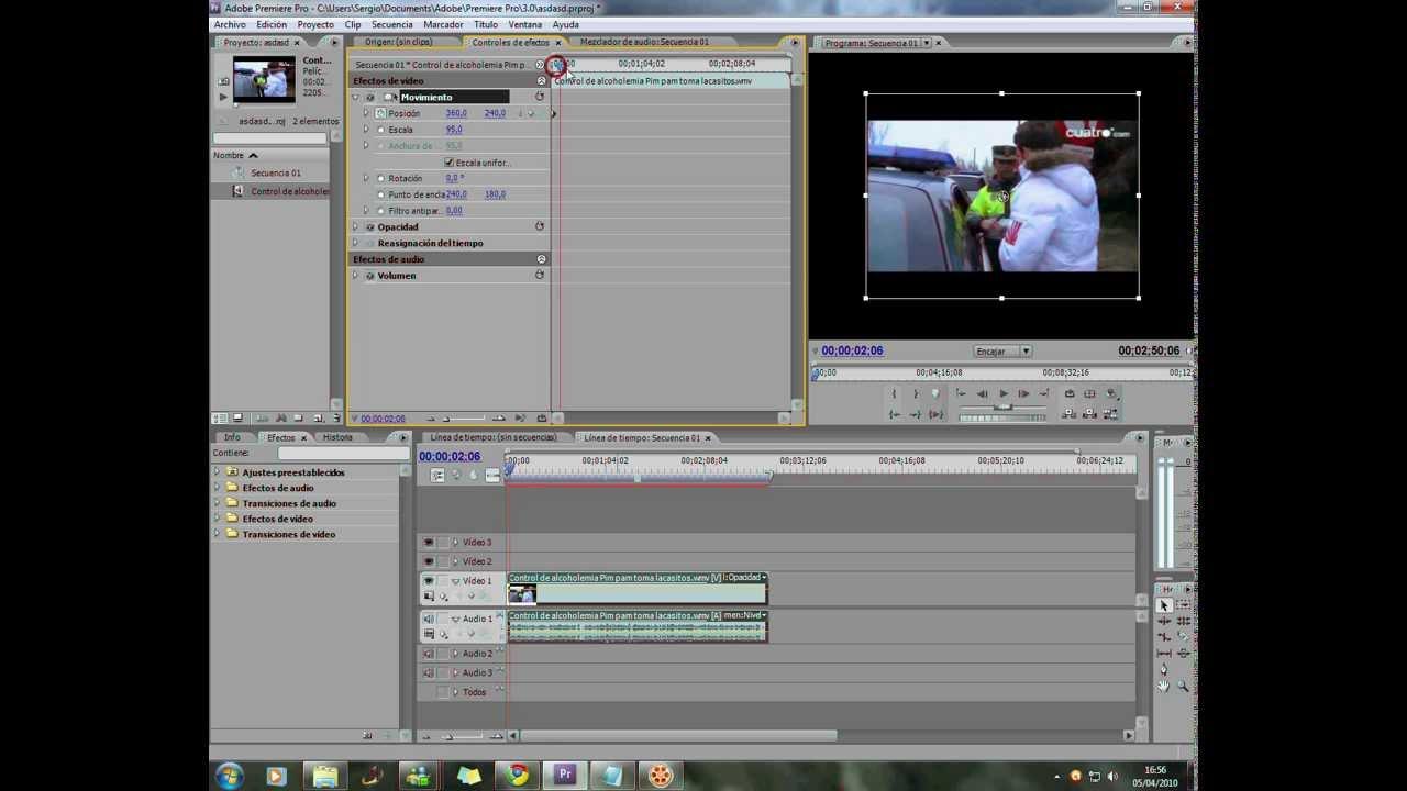 Modificar tamaño del video con premiere!! - YouTube