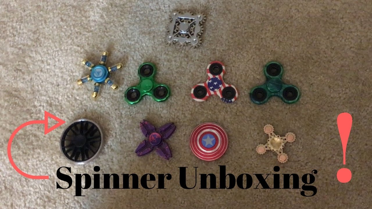 Fidget Spinner Collection Unboxing Review America Shiny Gears Metal Alumunium Captain Aluminum Wheel