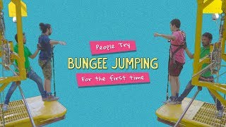 People Try Bungee Jumping For The First Time | Ft. Kanishk & Kaustubh | Ok Tested