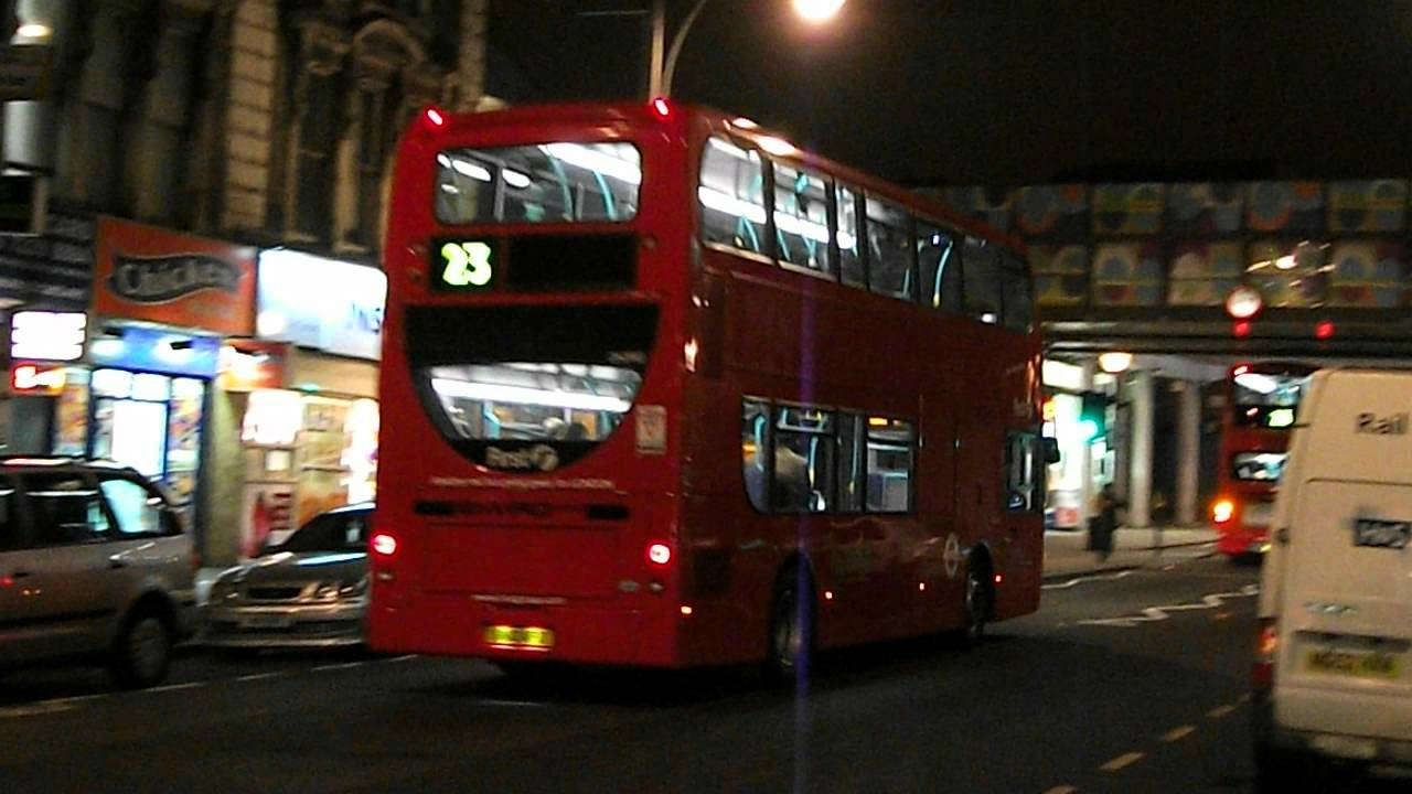 London Bus Route 23 At Ladbroke Grove Station Youtube