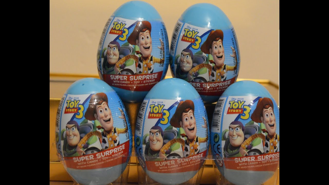 Kinder Egg Review Toy Story 3 Surprise Egg Unboxing Opening Review Woody