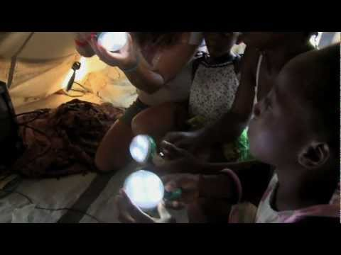 The Nokero solar light bulb - renewable energy helping reduce poverty in Haiti