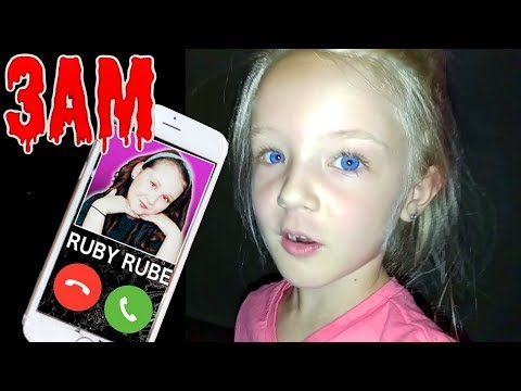 Do Not Call Ruby Rube at 3AM *OMG* She Answered Calling Video Gone Horribly Wrong