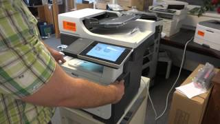 HP LaserJet 500 M525 MFP Laser Printer close look