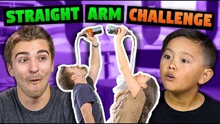 STRAIGHT ARM CHALLENGE WITH KIDS!